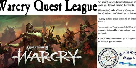 Warcry Quest League at Round Table Games tickets