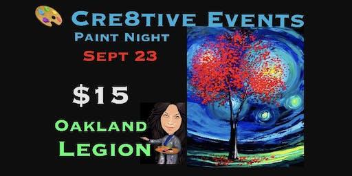 $15 Paint Night Yay @ Oakland Legion 9/23
