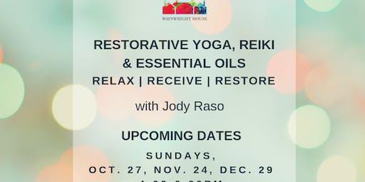 Restorative Yoga, Reiki & Essential Oils