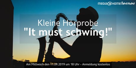 "Kleine Hörprobe ""It must schwing!"" - The Music of Blue Note Records  Tickets"