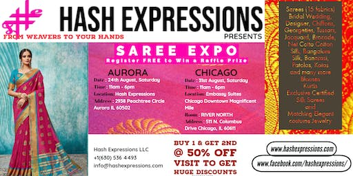 OPEN HOUSE - Sarees, Kutis, Jewelry - Aug 24th,Sat, By Hash Expressions LLC