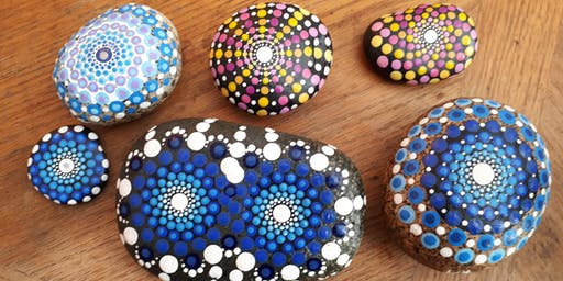 Meditative Mandala Rock Painting: Sept 29