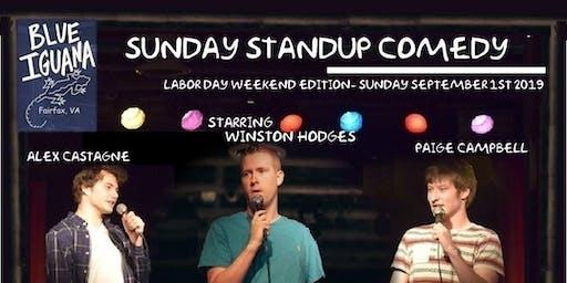 Sunday StandUp with Winston Hodges at Blue Iguana in Fairfax