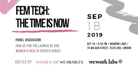 WoW Women & Health events series: FemTech - The Time Is Now tickets