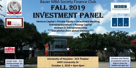 University of Houston - Investment Panel tickets