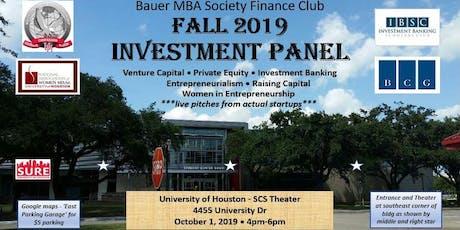 University of Houston - Investment Panel tickets