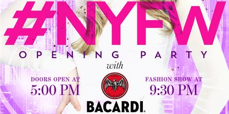 New York Fashion Week Opening Party with Bacardi at Sky Room's Fashion Haus tickets