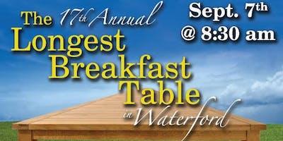 The Longest Breakfast Table