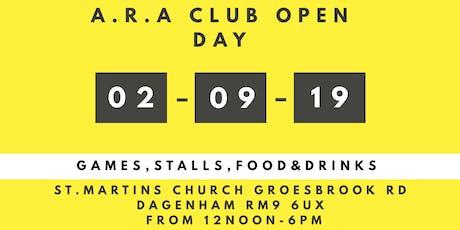 "A.R.A Open Day ""Keeping It Fun With A.R.A Club"" tickets"