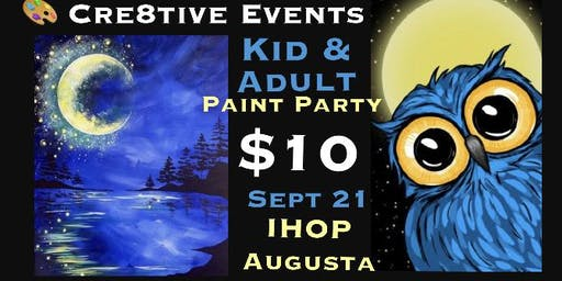 Kiddos and adults paint party at IHOP Augusta