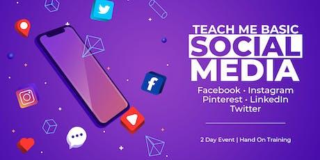 Teach Me Basic Social Media Class - 2 Day Event tickets