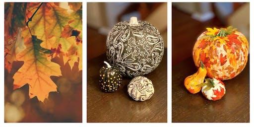 ART BAR SEPTEMBER 10 - Decorated Pumpkins
