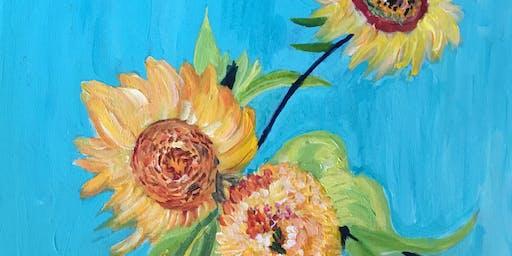Paint Night- Van Gogh Sunflowers