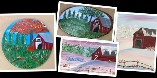 "Adult Open Paint (18yrs+) ""Seasonal Barn"""