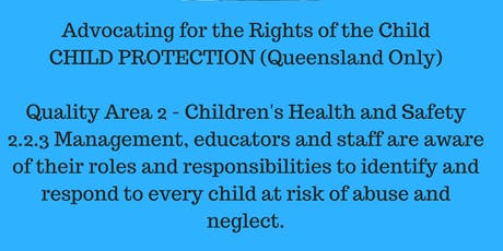 Advocating for the Rights of the Child: Child Protection and Mandatory Reporting Queensland Beenleigh tickets