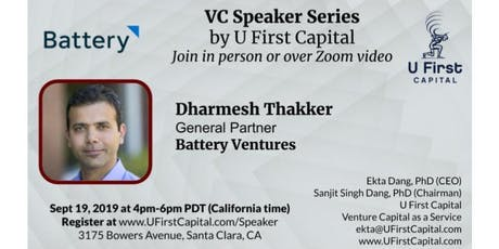 VC Speaker: Battery Ventures General Partner Dharmesh Thakker tickets
