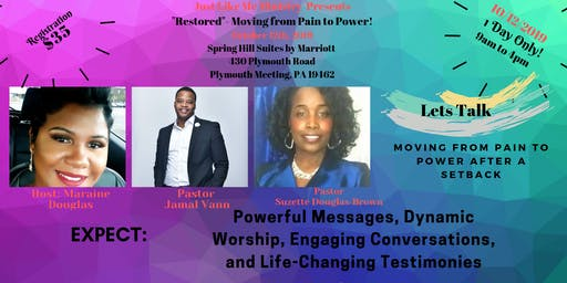 """The """"Restored"""" Conference - moving from Pain to Power"""