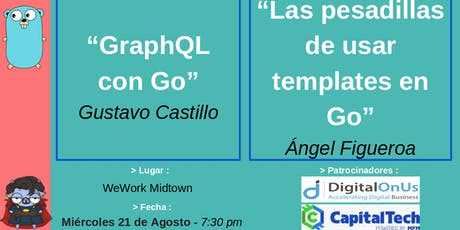 Golang GDL Meetup - Agosto 2019 tickets