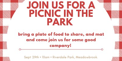 Kids & Mumma's Social Lunch - Picnic in the Park