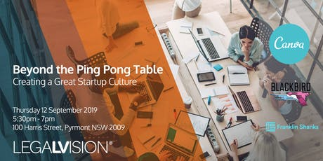 Beyond the Ping Pong Table: Creating a Great Startup Culture tickets