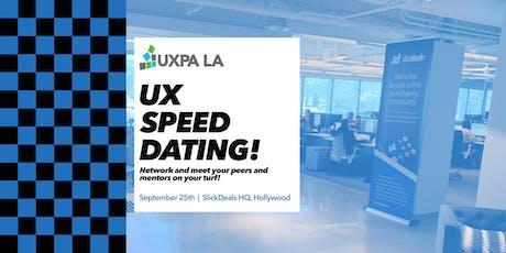 UXPALA - UX Speed Dating Fall 2019 tickets