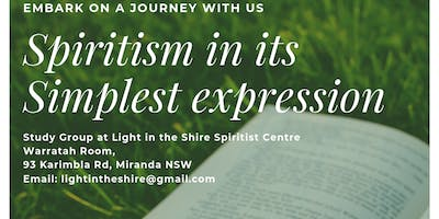 'Spiritism in its simplest expression' Open Study group