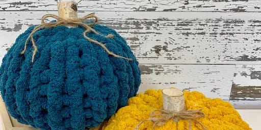 Hand Knit Poof Pumpkin Class