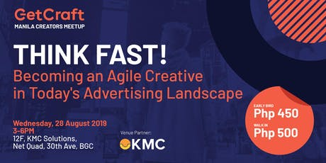 THINK FAST! Becoming an Agile Creative in Today's Advertising Landscape tickets