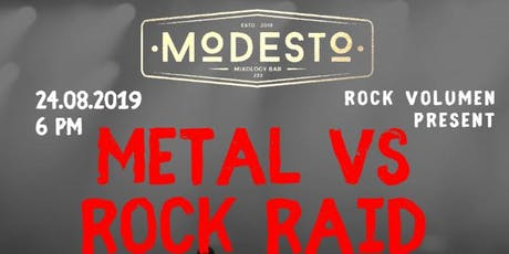 METAL VS ROCK RAID boletos