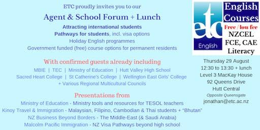 ETC Agent & School Forum, Wellington region