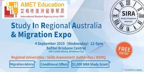 Brisbane - AMET SIRA (Study In Regional Australia) & Migration Expo tickets