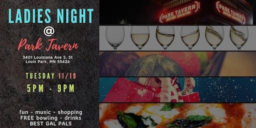 Ladies Night at Park Tavern 11/19