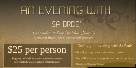 An Evening With Sa Brde' tickets