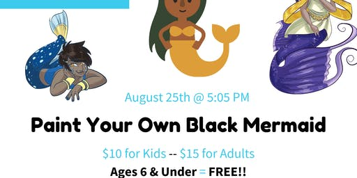 Paint Your Own Black Mermaid!