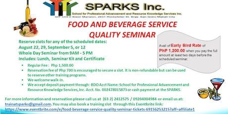 Food & Beverage Service Quality Seminar tickets