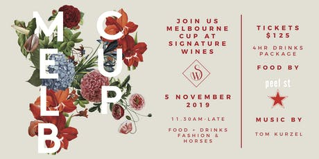 Melbourne Cup at Signature Wines tickets