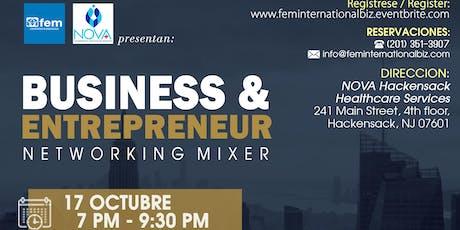 BUSINESS & ENTREPRENEUR N E T W O R K I N G  M I X E R tickets