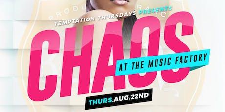 Temptation Thursday's tickets