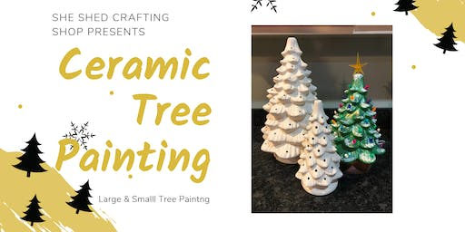 Large & Small Ceramic Tree Painting