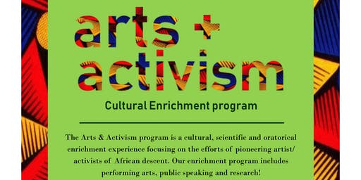 Arts & Activism program registration