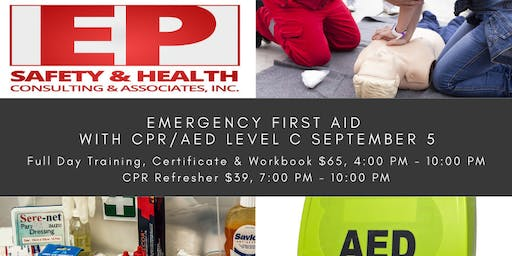 Emergency First Aid with CPR/AED Level C September 5