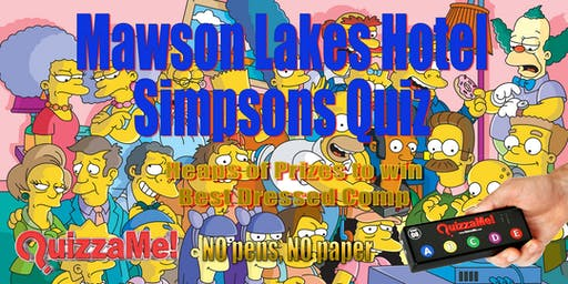 Mawson Lakes Simpsons Trivia