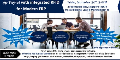 Go Digital with Integrated RFID for Modern ERP tickets