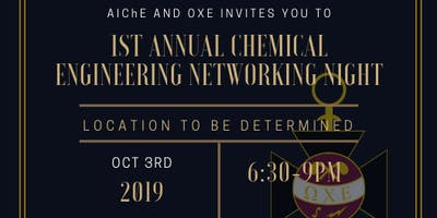 1st Annual Chemical Engineering Networking Night