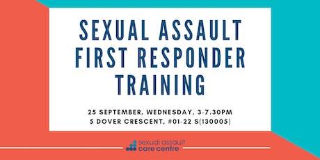 25 September 2019: Sexual Assault First Responder Training tickets
