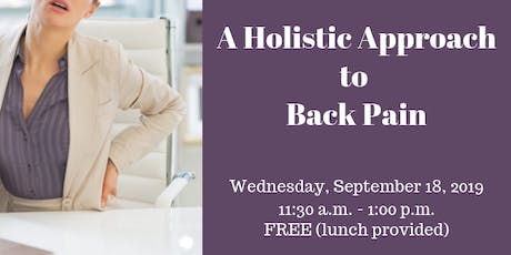 A Holistic Approach To Back Pain tickets