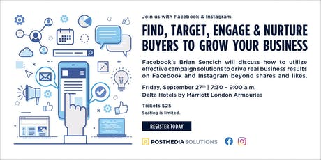 Facebook & Instagram: Find, Target, Engage and Nurture buyers to grow your business - London tickets