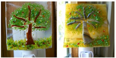 Fused Glass Autumn Tree Nightlight Workshop at Life Is Sweet