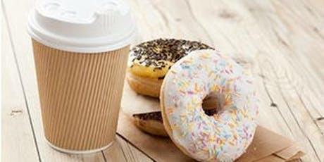 Coffee and Donuts- 1st day of school Bienvenido de Nuevo Café y Donas Lunes tickets