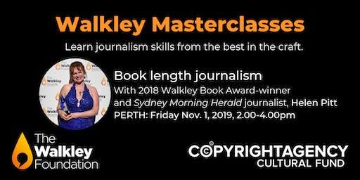 Walkley Masterclass: Book length journalism